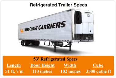 Refrigerated Trucking Trailer Specs